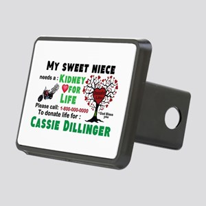 Personalize, Kidney Donati Rectangular Hitch Cover