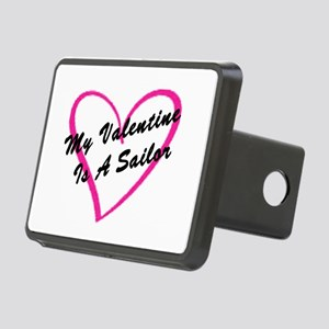 My Valentine Is A Sailor Rectangular Hitch Cover