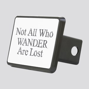 Not All Who Wander Rectangular Hitch Cover