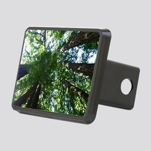 up into treetops Rectangular Hitch Cover
