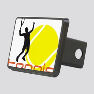 tennis player Rectangular Hitch Cover