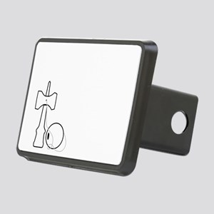 white on black Practice Li Rectangular Hitch Cover