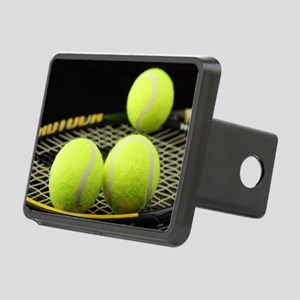 Tennis Balls And Racquet Rectangular Hitch Cover