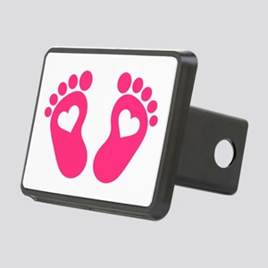 Baby feet hearts Rectangular Hitch Cover