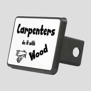 Carpenters Do It with Wood Rectangular Hitch Cover