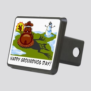 groundhogday1 Rectangular Hitch Cover