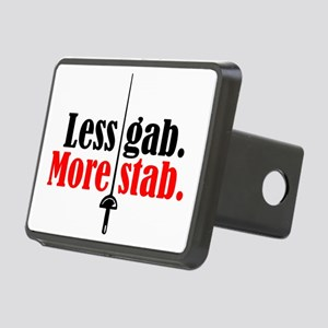 less gab/more stab Rectangular Hitch Cover
