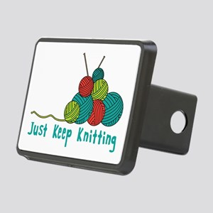 Just Keep Knitting Hitch Cover