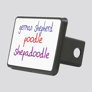 shepadoodle_black Rectangular Hitch Cover
