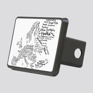 Food Map of Europe Rectangular Hitch Cover