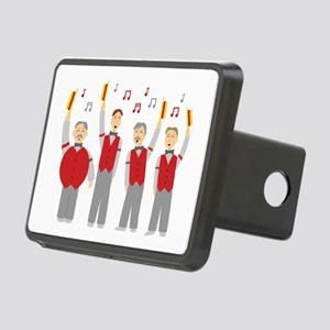 Classic Barbershop Quartet Rectangular Hitch Cover