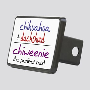 chiweenie Rectangular Hitch Cover