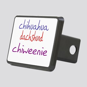 chiweenie_black Rectangular Hitch Cover