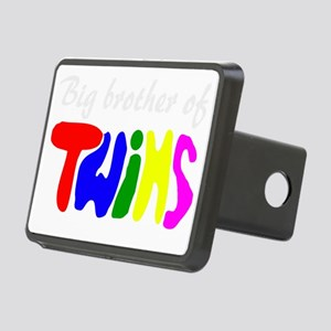 Big brother of twins Rectangular Hitch Cover