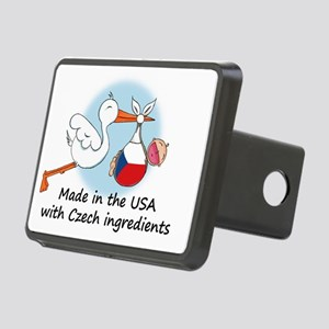 stork baby czech 2 Rectangular Hitch Cover