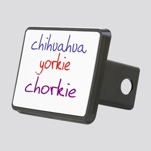 chorkie_black Rectangular Hitch Cover
