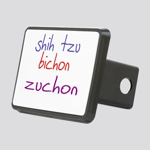 zuchon_black Rectangular Hitch Cover