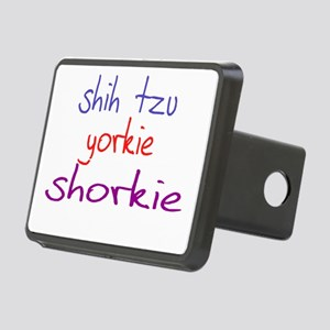 shorkie_black Rectangular Hitch Cover