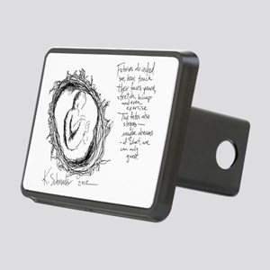 Baby In Womb - Artist Etch Rectangular Hitch Cover