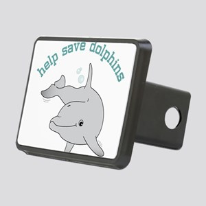 Help Save Dolphins Rectangular Hitch Cover