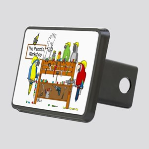 The Parrot's Workshop Logo Rectangular Hitch Cover