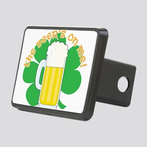 shamrock and beer cp Rectangular Hitch Cover