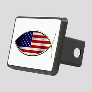 Ichthus - American Flag Hitch Cover