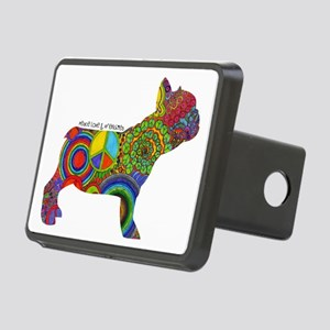 Peace Love Frenchies Rectangular Hitch Cover