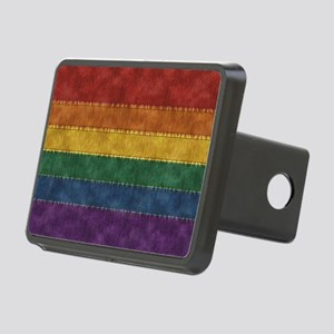 Rainbow Denim Flag Hitch Cover