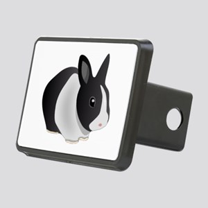 Dutch Black And White Rectangular Hitch Cover