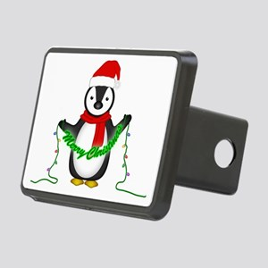 Penguin with lights Rectangular Hitch Cover