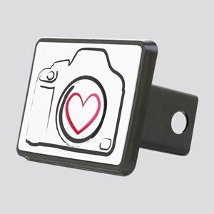 DSLR Camera Heart Rectangular Hitch Cover