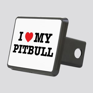 I Heart My Pitbull Rectangular Hitch Cover