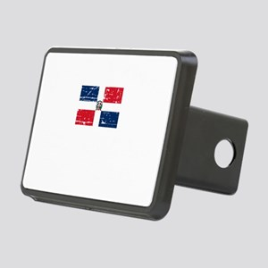 1DOMINICAN REP-black Rectangular Hitch Cover