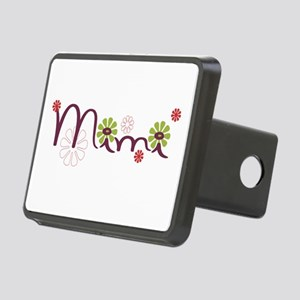 Mimi With Flowers Rectangular Hitch Cover