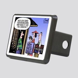 Religion Politics Rectangular Hitch Cover