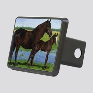Percheron Mare And Foal Dr Rectangular Hitch Cover