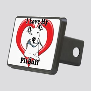 I love my Pitbull logo cop Rectangular Hitch Cover