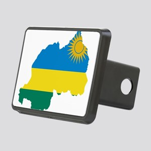 Rwanda Flag and Map Rectangular Hitch Cover