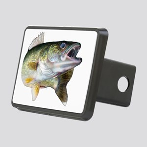 walleye turn Rectangular Hitch Cover
