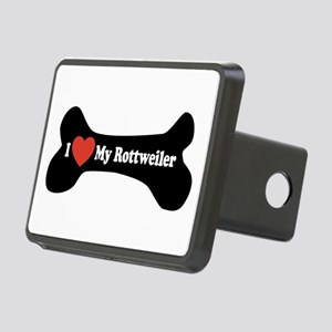 I Love My Rottweiler - Dog Bone Rectangular Hitch