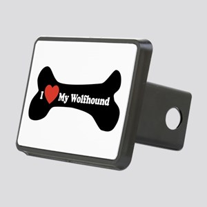 I Love My Wolfhound - Dog Bone Rectangular Hitch C
