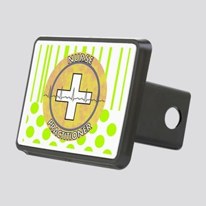 Nurse Practitioner lime an Rectangular Hitch Cover