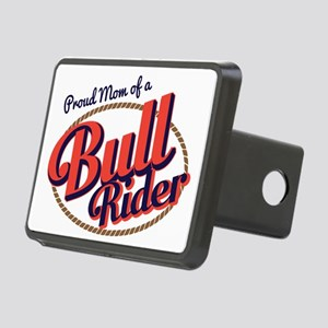 Proud Mom of a Bull Rider Rectangular Hitch Cover