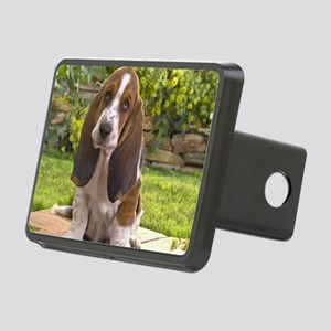 Basset puppy mousepad Rectangular Hitch Cover