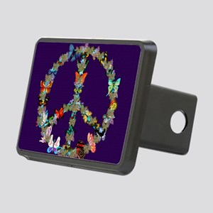 Butterfly Peace Sign Blank Rectangular Hitch Cover