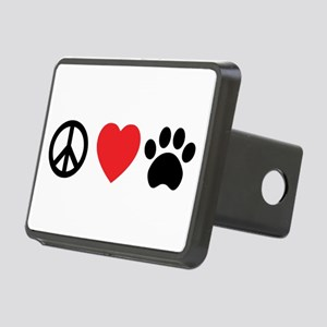 Peace Love Paw Rectangular Hitch Cover