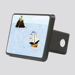 Sailing by the Castle Rectangular Hitch Cover