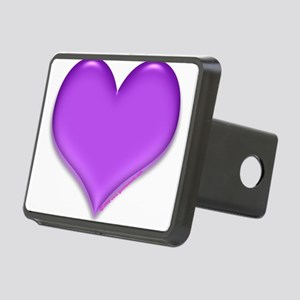 purple heart Rectangular Hitch Cover