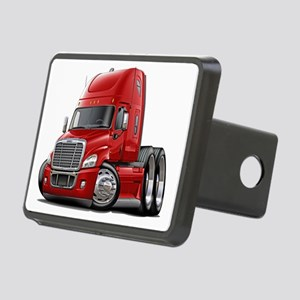Freightliner Red Truck Rectangular Hitch Coverle)